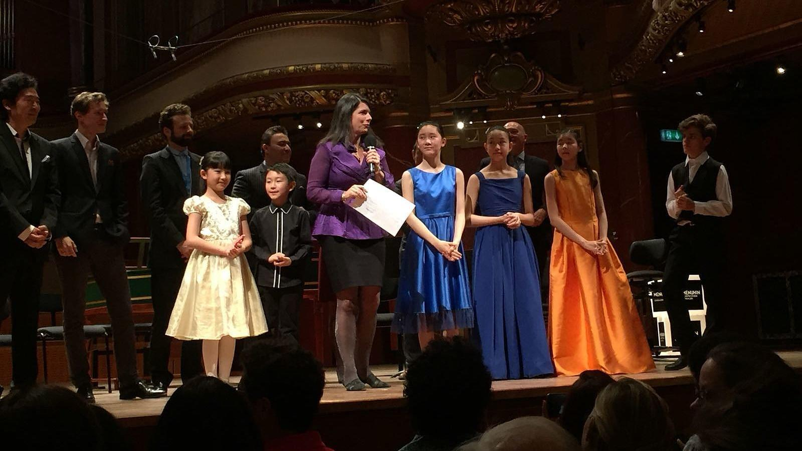 Menuhin Competition Junior Division first prize Winners