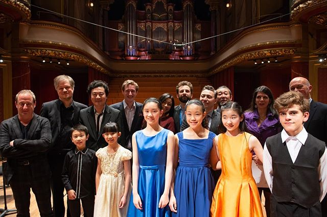 Menuhin Competition Junior Division prize Winners & Jury Group